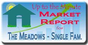 Up to the minute Market Report for Single Family Homes in The Meadows