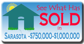 Browse Sarasota Luxury Home Sales up to three years back in the $750,000 to $1,000,000 price range