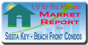 The Siesta Key real estate market report for beach front condos