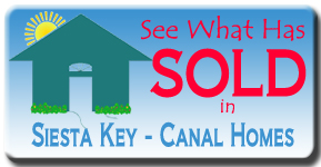 The latest canal front home sales on Siesta Key, FL