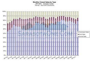 Saraota Real Estate Market Update - Sale Types as a percentage of total sale - Monthly