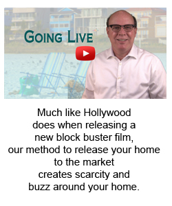 Much like Hollywood  does when releasing a  new block buster film,  our method to release your home to the market  creates scarcity and  buzz around your home.