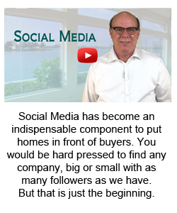 Social Media has become an indispensable component to put homes in front of buyers. You would be hard pressed to find any company, big or small with as many followers as we have.  But that is just the beginning.