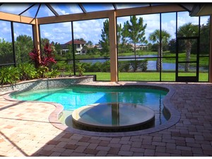 Lake View by the Pool at 3566 Founders Club Dr, Sarasota, FL