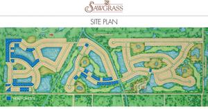 Sawgrass Site Plan in Venice Florida