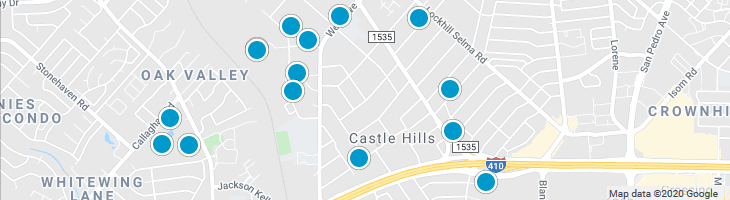 Search By Map : Castle Hills Texas Homes For Sale