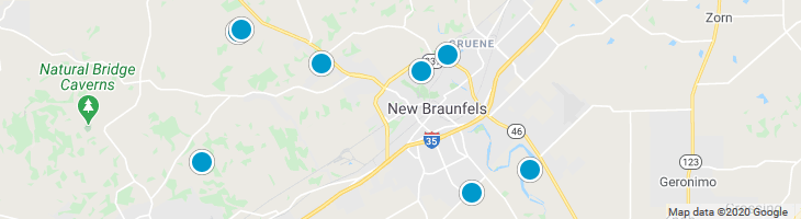 Search By Map : New Braunfels Texas Homes For Sale