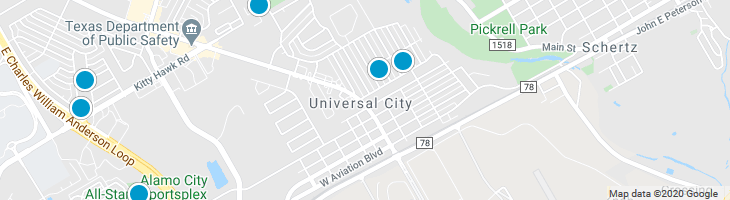 Search By Map : Universal City Texas Homes For Sale
