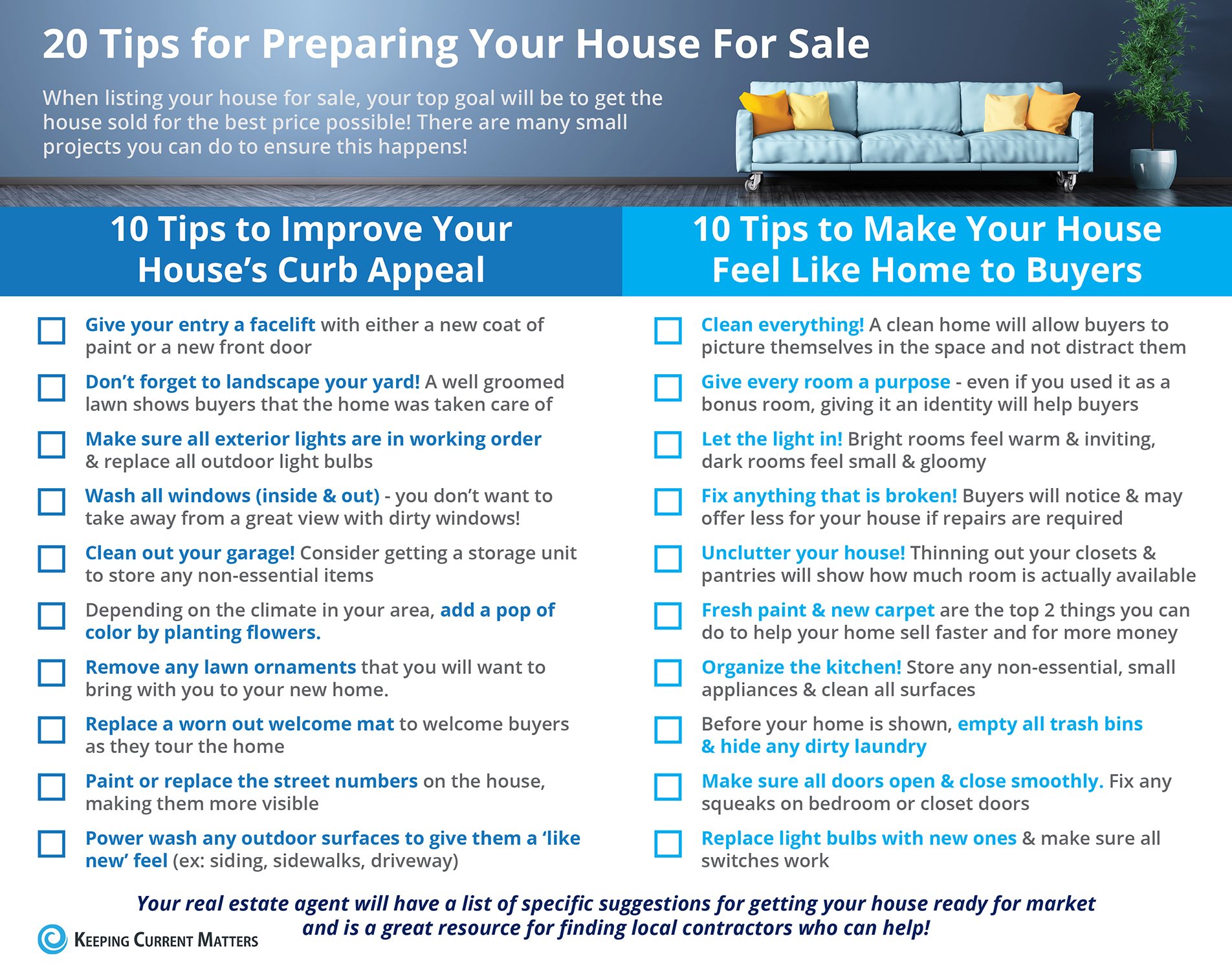 20 Tips Preparing Your Home for Sale