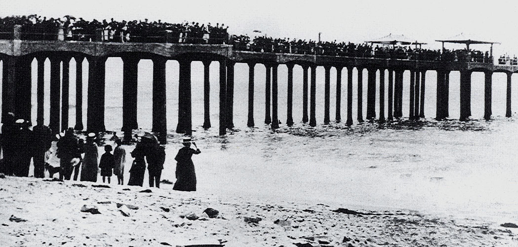 hermosa beach pier historical pic