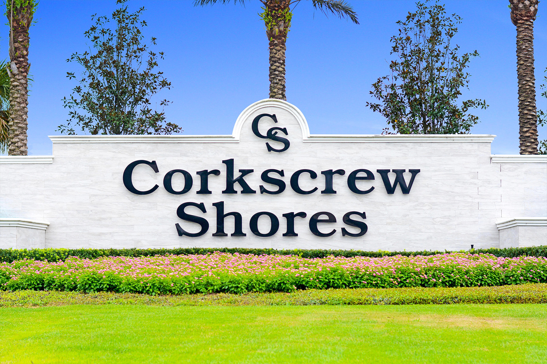 Corkscrew Shores Sign