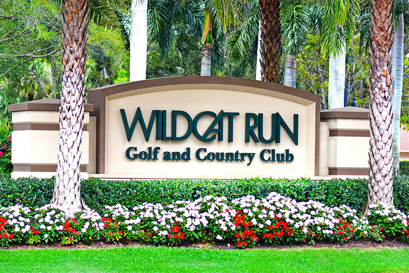 Wildcat Run Sign