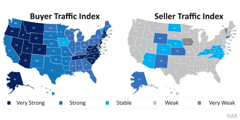 Buyer Traffic Index chart is very strong in Arizona