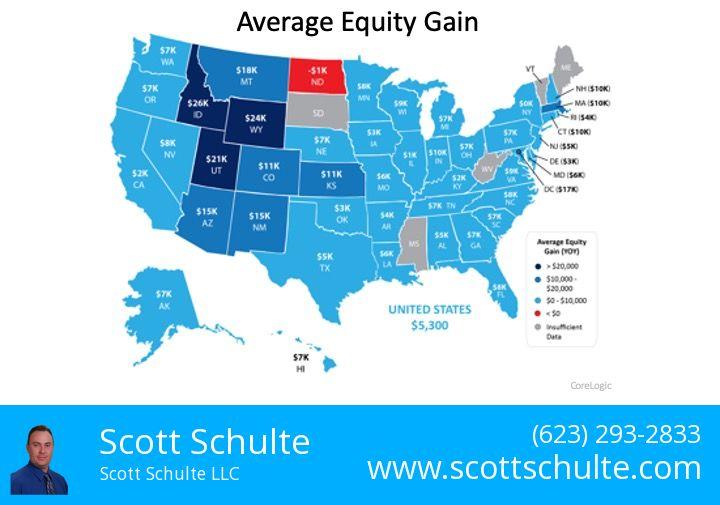 Home Equity map chart infographic Arizona 2020