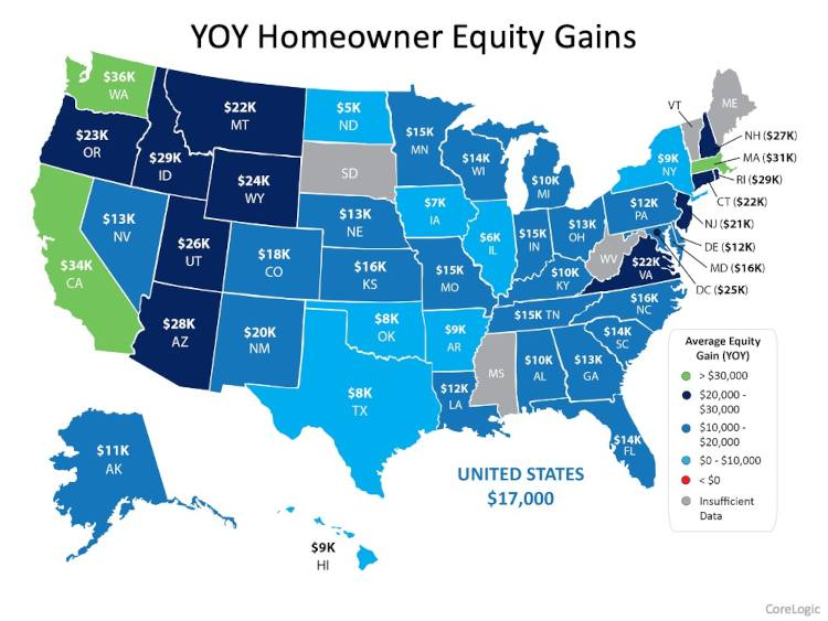 Home Equity By State