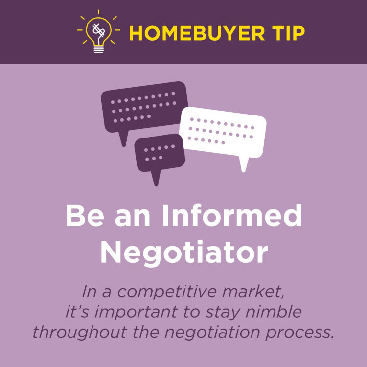 Home Buyers Be an informed home buyer and make some creative negotiations.