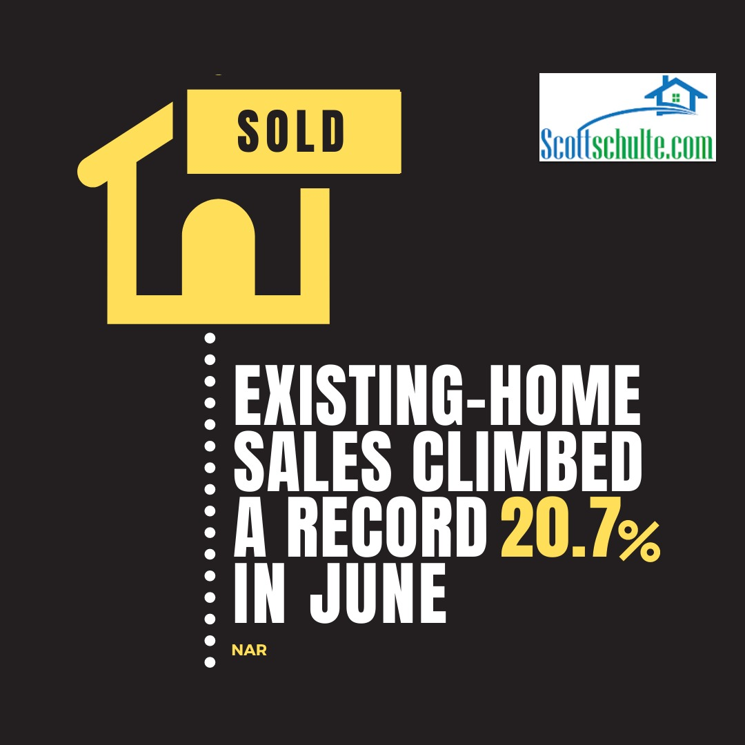 home sale surged last month