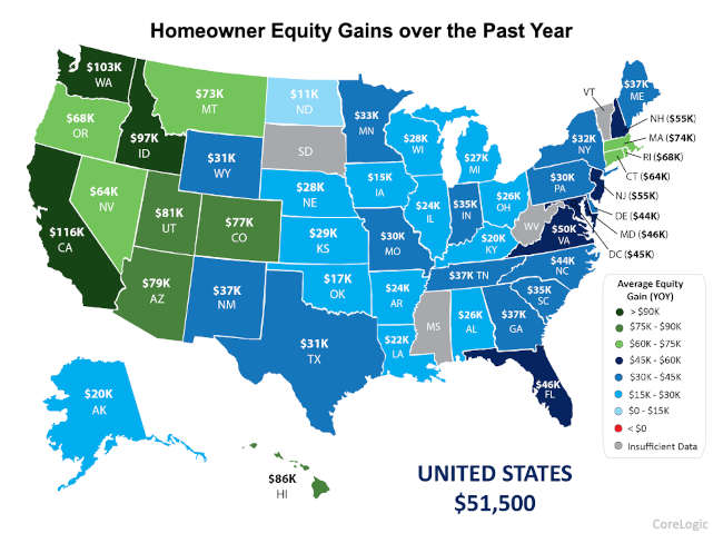 What is Equity, chart of equity by state