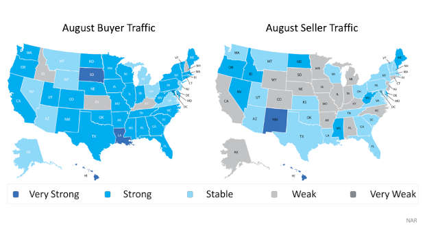 Map Graph on Home Buyer Traffic
