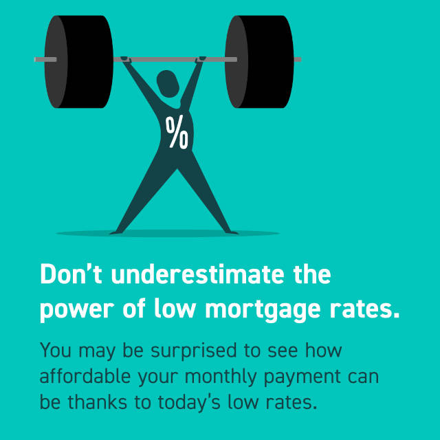 Low Mortgage Rates Help lower payment