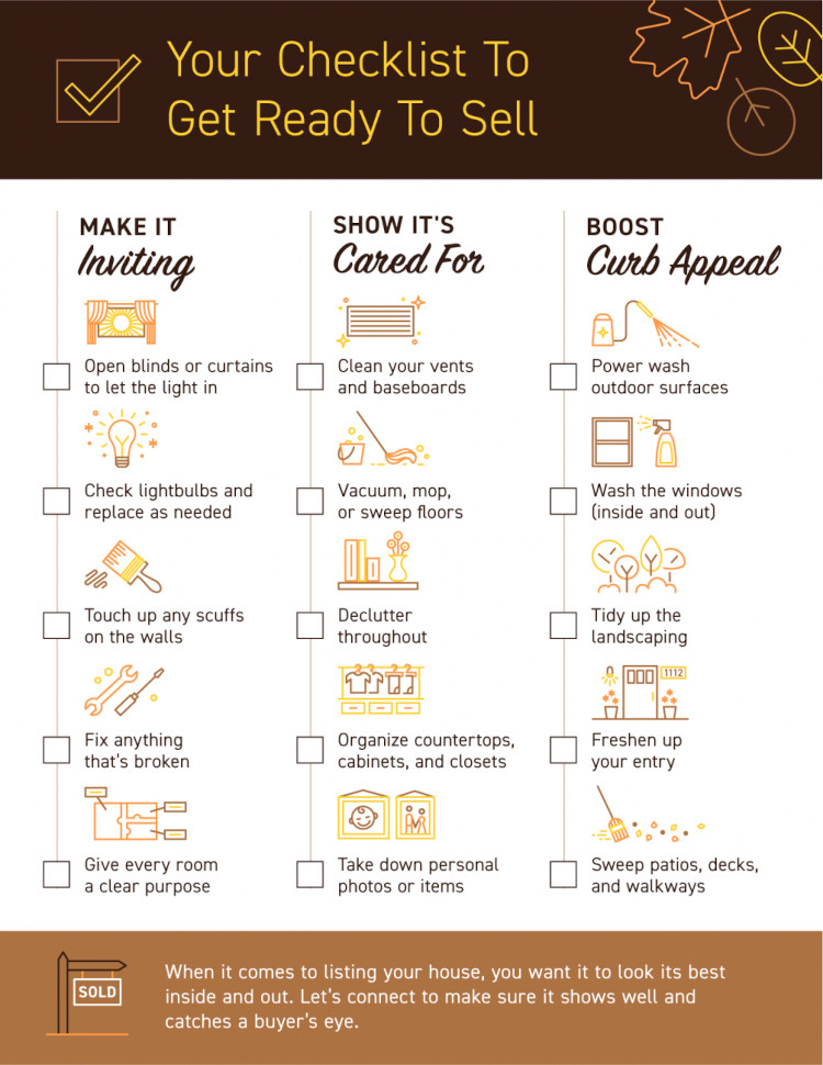 Checklist to get your home ready to sell