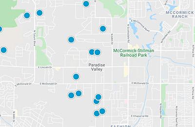 phoenix metro mls map