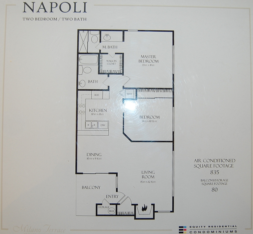 Milano terrace condos for sale for Terrace one bedroom fountain view
