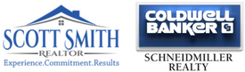 Image of Scott Smith Homes and Coldwell Banker Schneidmiller Realty Logos