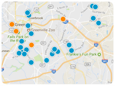 Greenville Real Estate Map Search