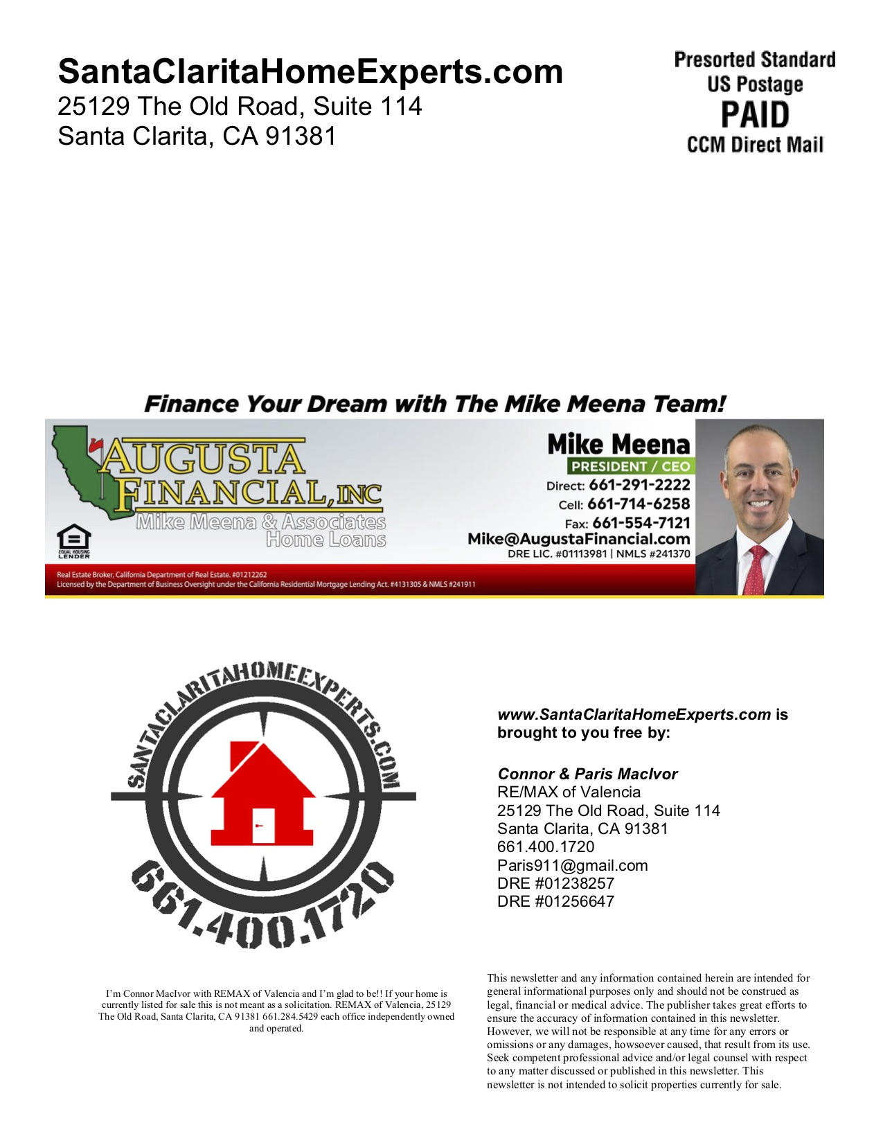 Canyon Country real estate newsletter