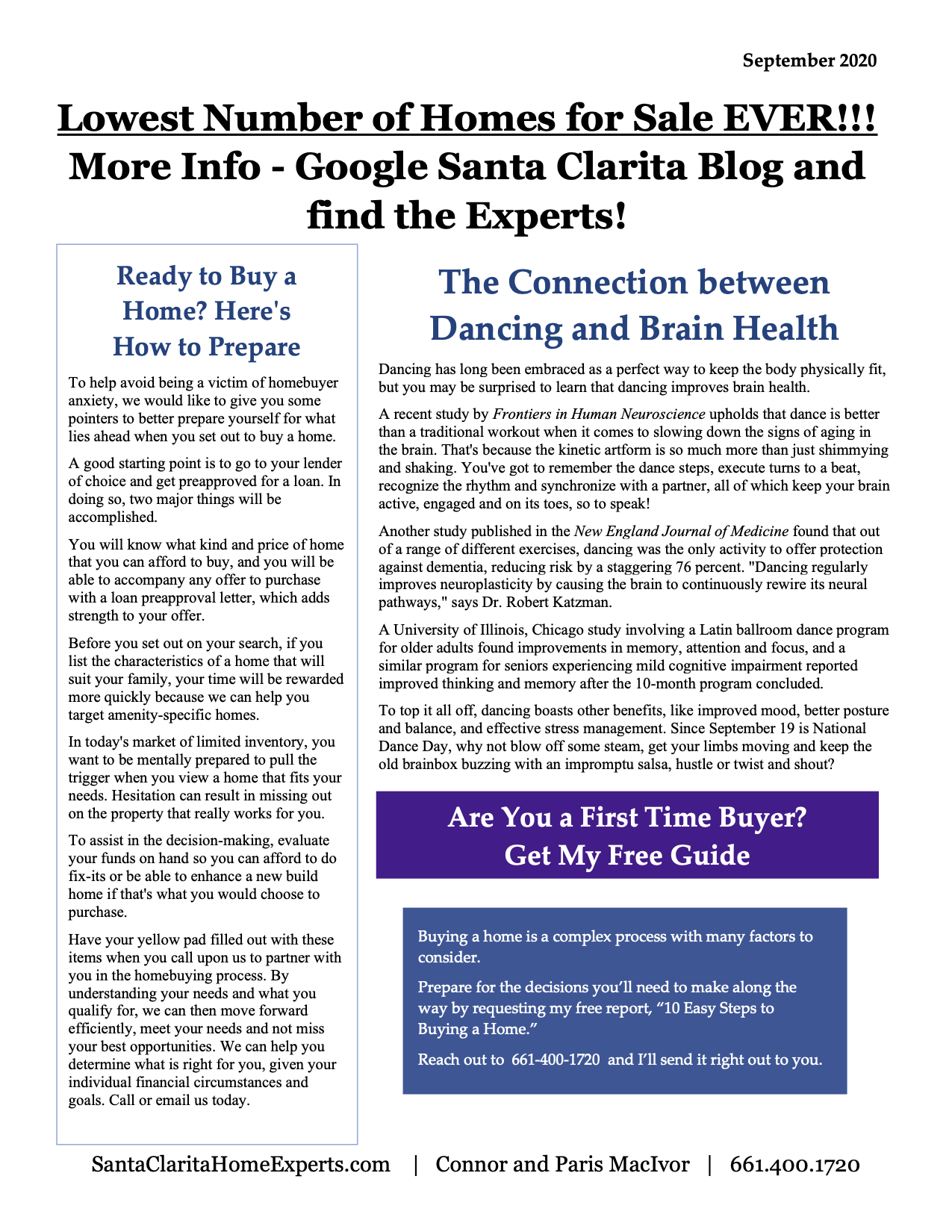 Santa Clarita real estate news page 1