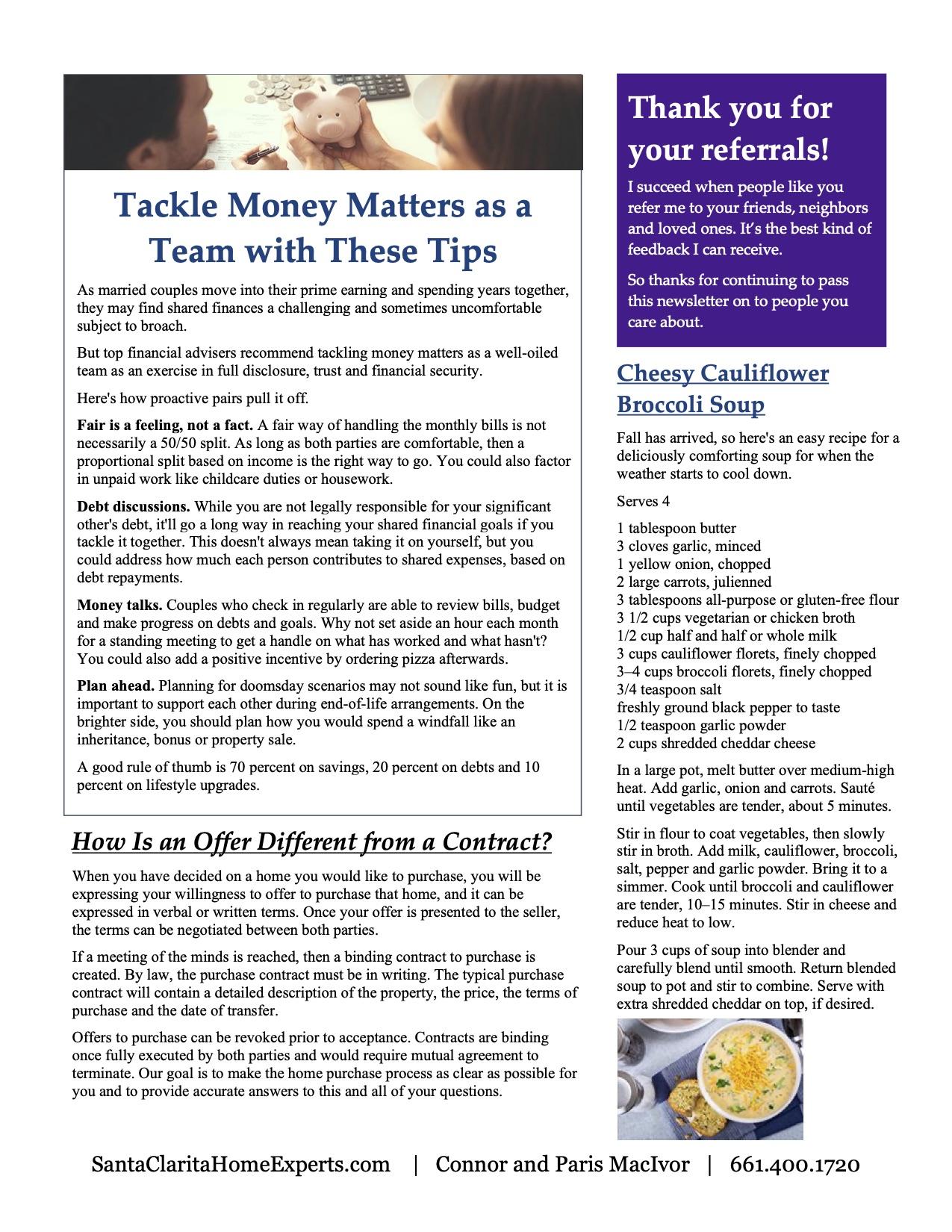 Santa Clarita newsletter page 2