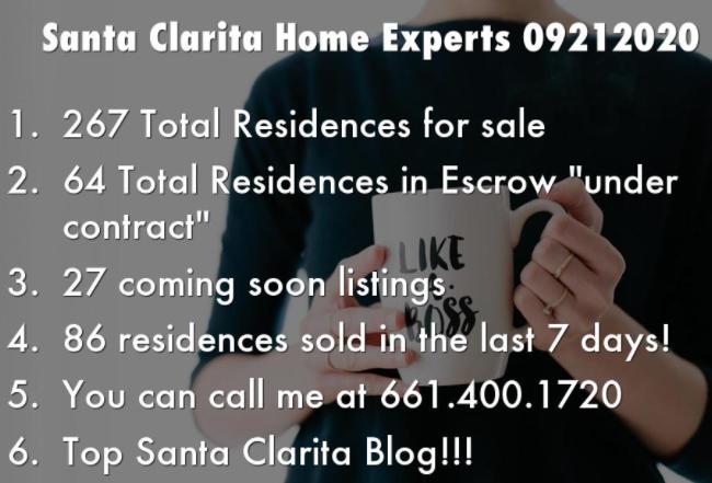 Santa Clarita home experts real estate market update