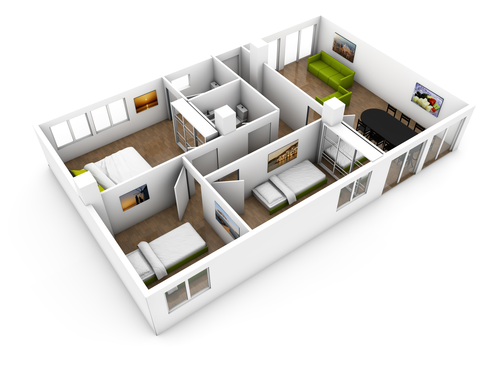 Rooms returned to their original intent for Santa Clarita virtual tour photography