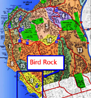 Bird Rock La Jolla Map