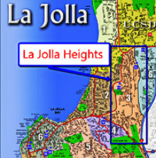 La Jolla Heights Map