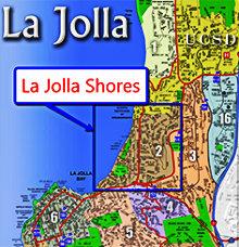 La Jolla Shores Map