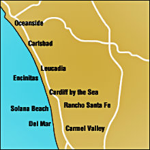 North County Coastal San Diego Map