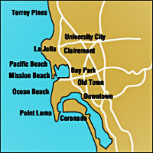 San Diego Coastal Map