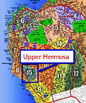 Upper Hermosa La Jolla Map
