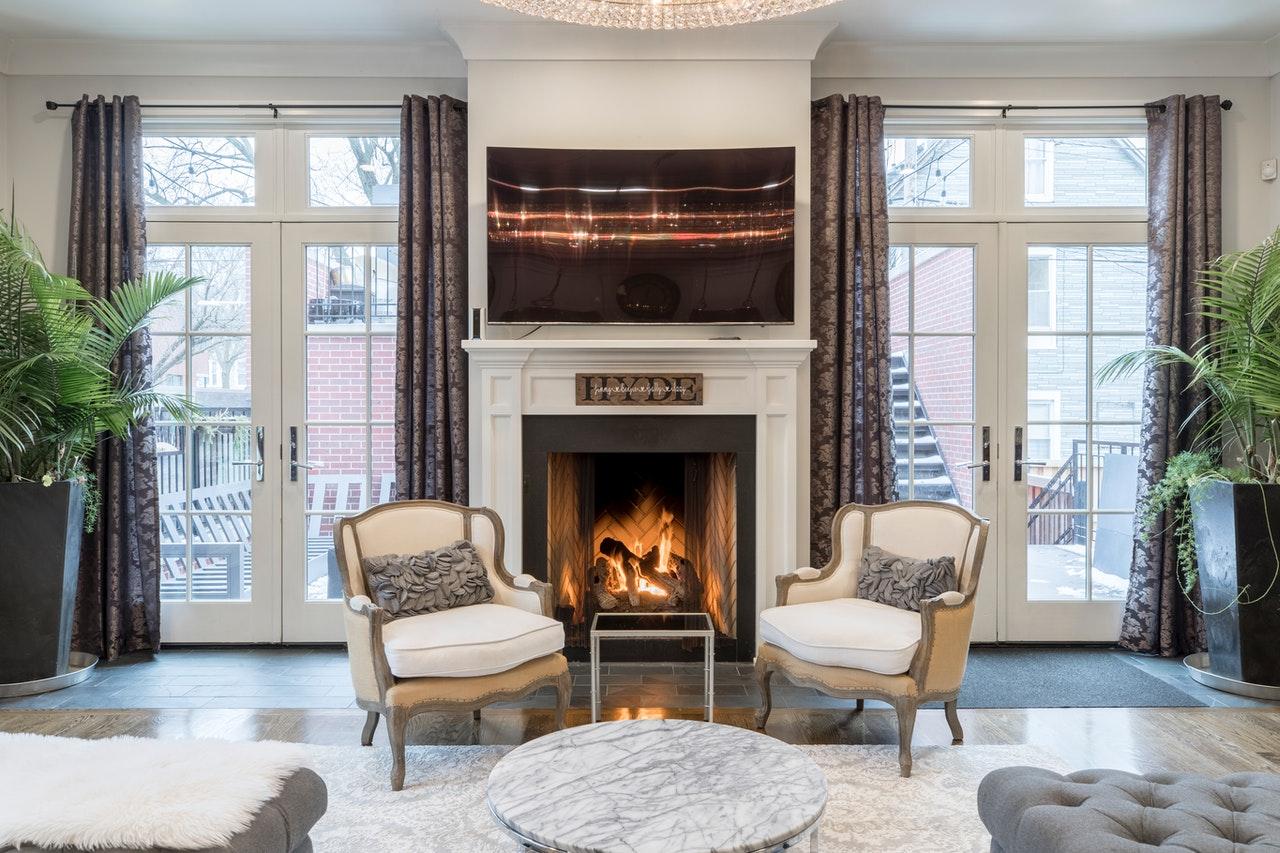 beautiful Livingroom fireplace