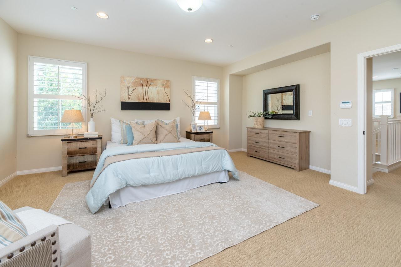 stylish bedroom in Lake of the Woods, VA Sean Jones