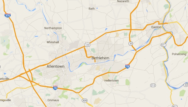 Lehigh Valley Area Map