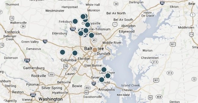 BALTIMORE REAL ESTATE MAP SEARCH