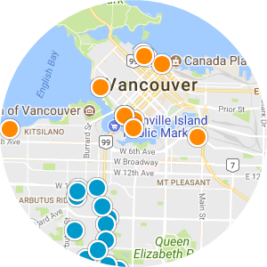 Search Vancouver, British Columbia Homes By Map