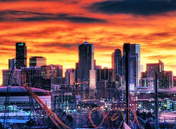 Denver Orange Sky