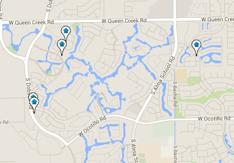 Ocotillo Homes for Sale Map Search Results