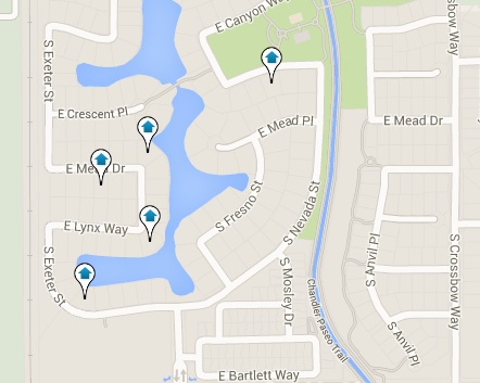Pinelake Estates Homes for Sale Map Search Results