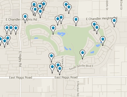 Seville Homes for Sale Map Search Results