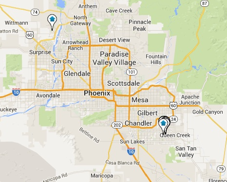 Trilogy Homes for Sale Map Search Results